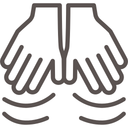 Massage hands icon